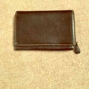 Coach Bags - Leather Coach Trifold Wallet